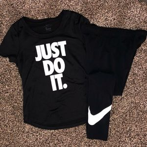 Nike girls size small top and leggings